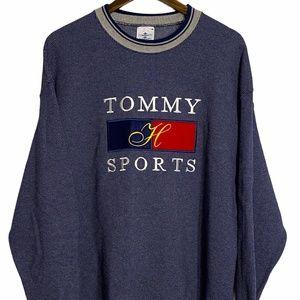 Vtg Tommy Sports Tommy Hilfiger Blue Pullover